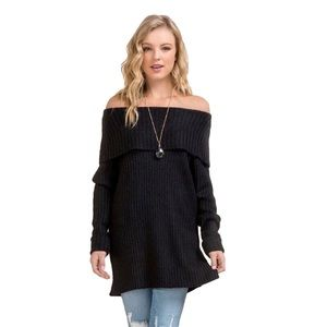 Francescas Carter off the shoulders ribbed sweater